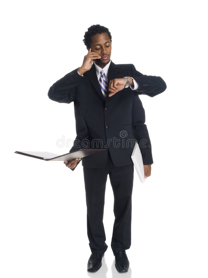 Businessman - Busy Multitasker Royalty Free Stock Photography