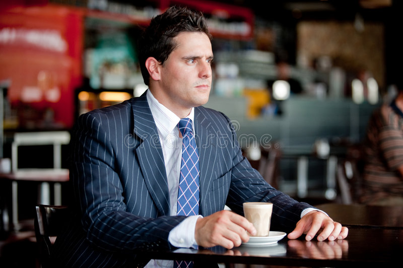 Download Businessman In Cafe stock photo. Image of businessman - 7566642