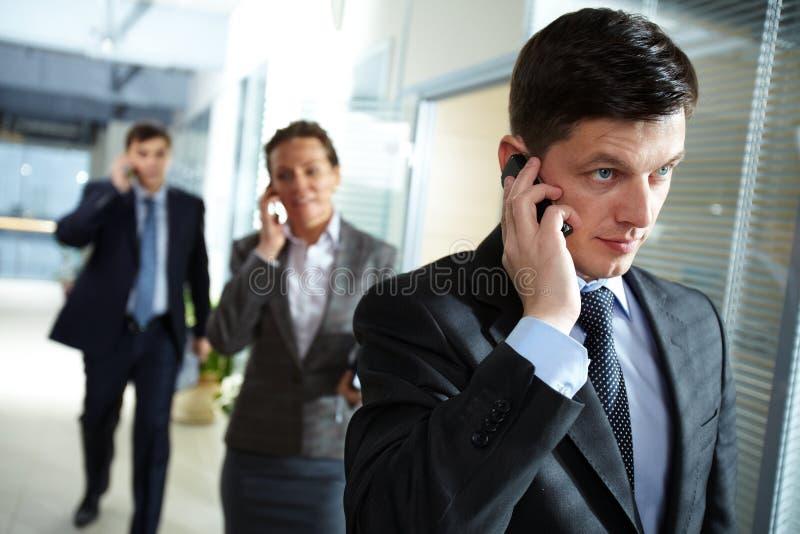 Businessman Calling Stock Photography