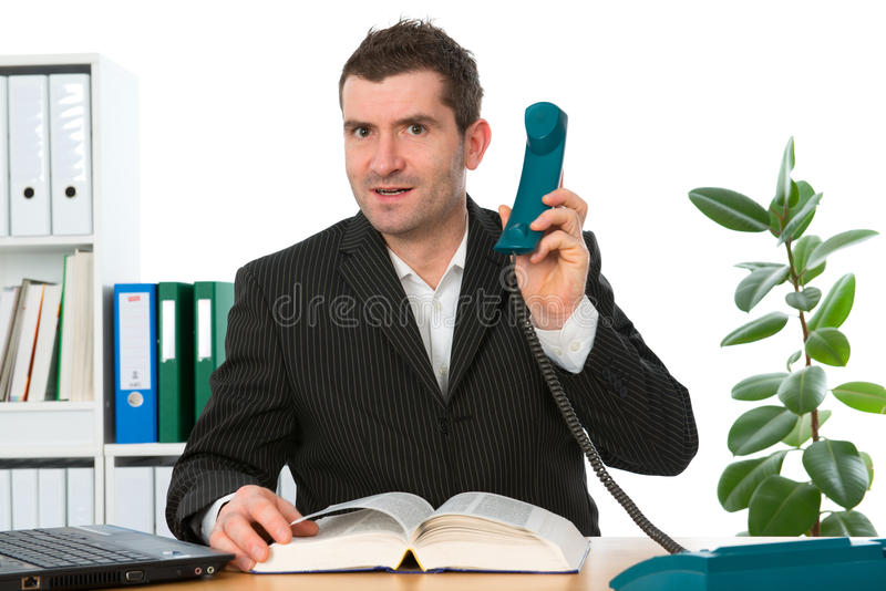 Download Businessman is calling stock photo. Image of professional - 37074888
