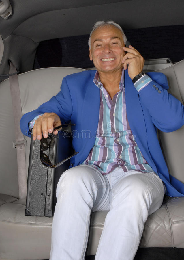 Businessman Car. Royalty Free Stock Image