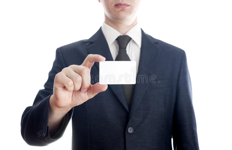 Businessman with card royalty free stock images