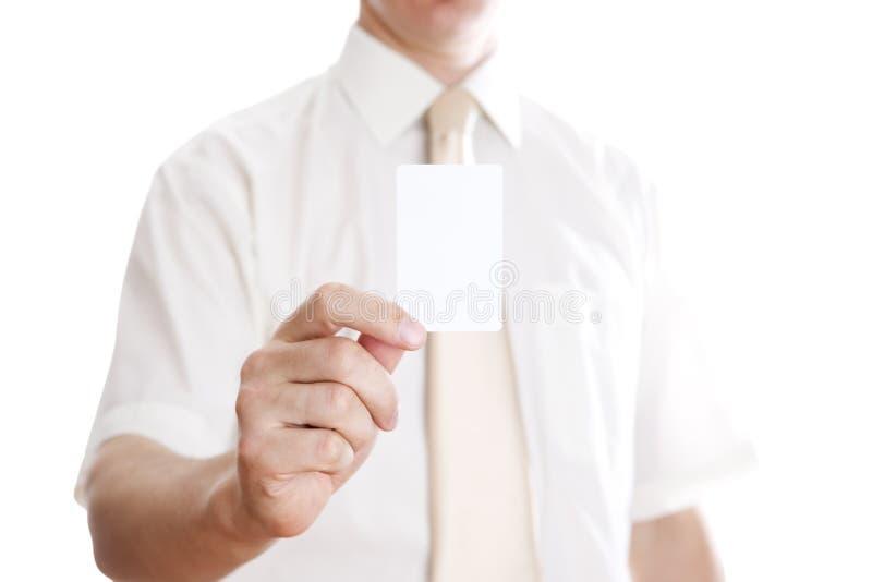 Businessman with card stock photos