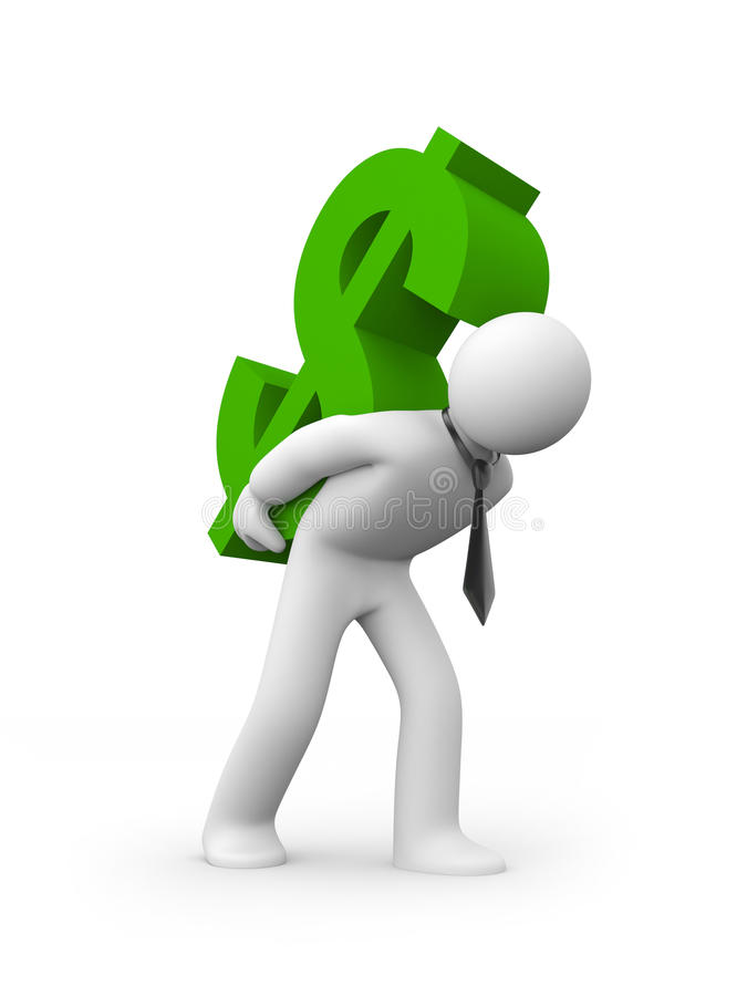 Download Businessman carry dollar stock illustration. Illustration of corporate - 9602570