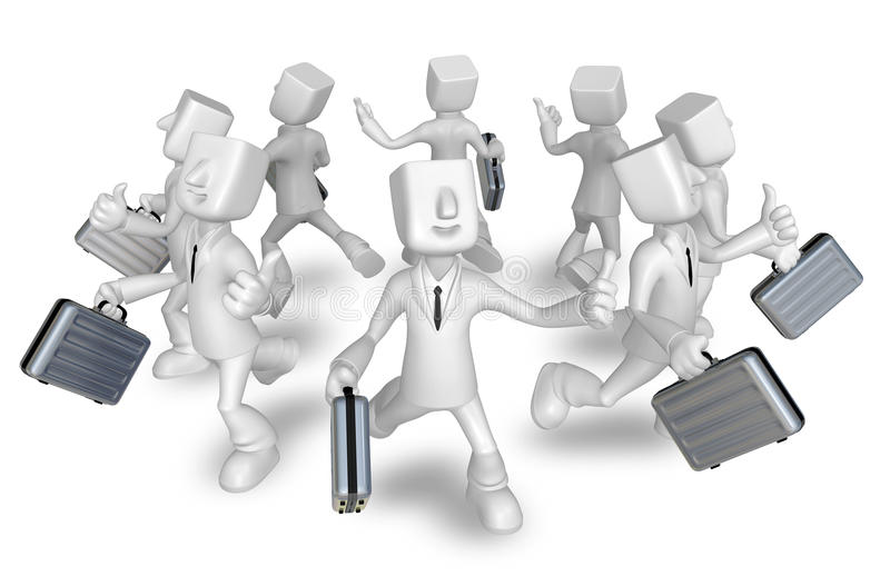 Download Businessman Carrying A Briefcase Running Stock Illustration - Image: 27024561