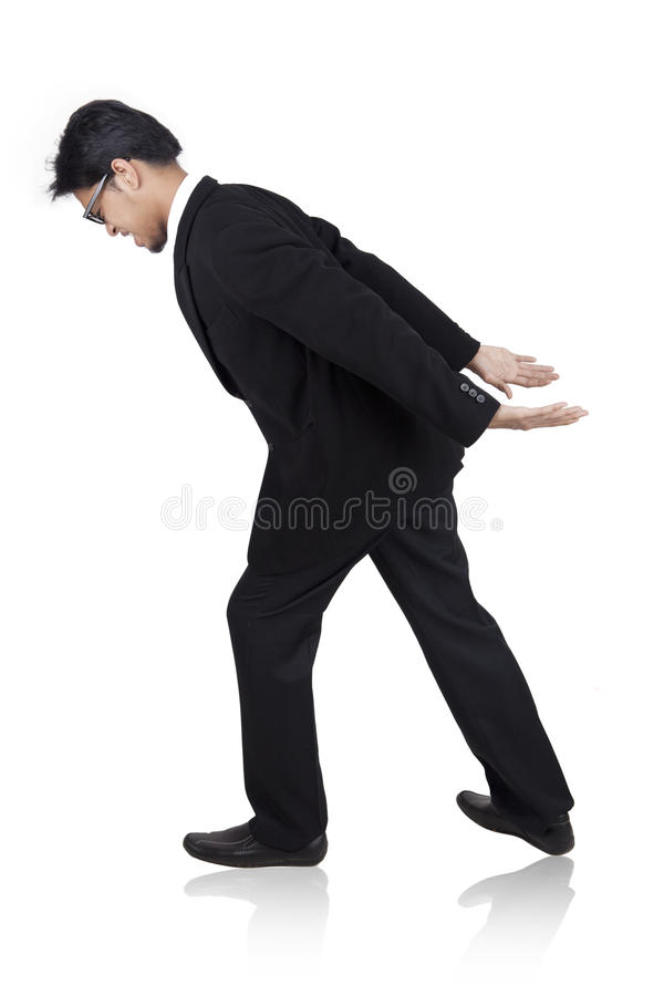 Download Businessman Carrying Something Heavy On His Back Stock Photo - Image: 23100568