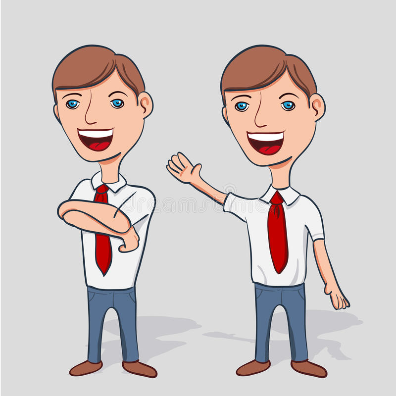 Businessman Cartoon Character stock illustration