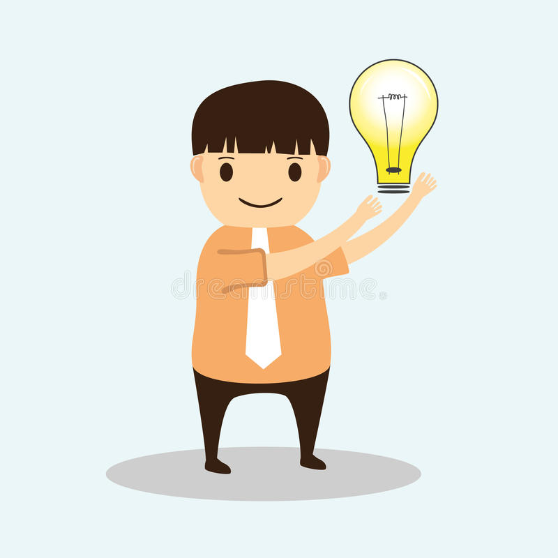 Download Businessman Cartoon With Creative Idea Stock Vector - Illustration: 32778961