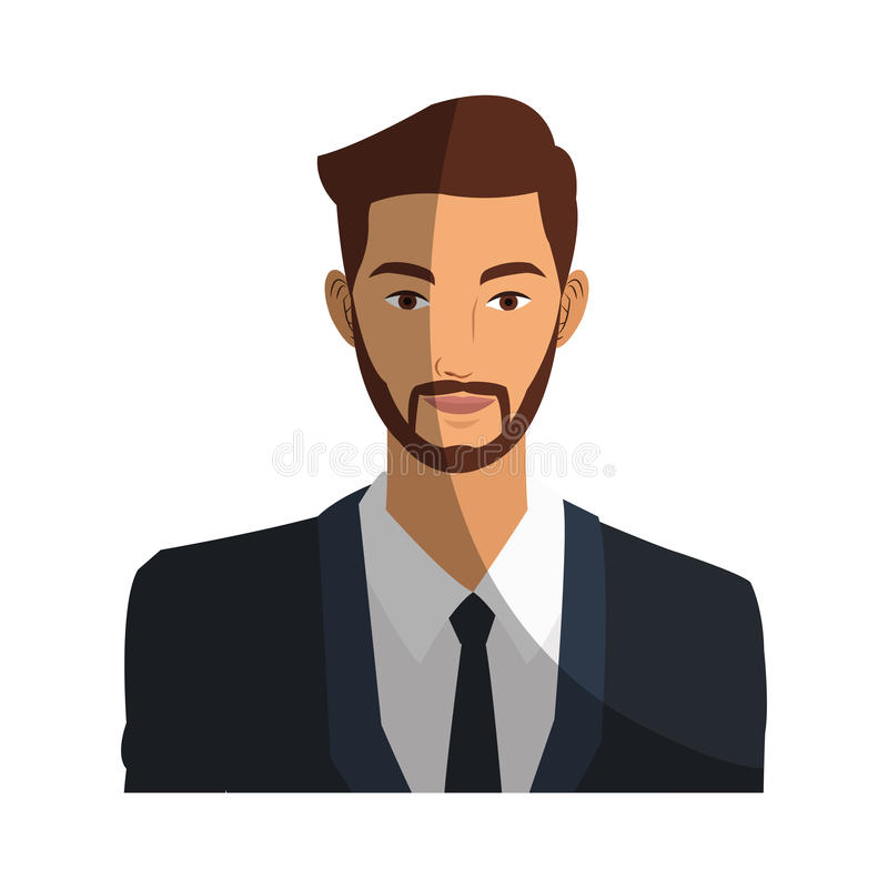 Executive Cartoon: Businessman Cartoon Icon Stock Vector. Illustration Of