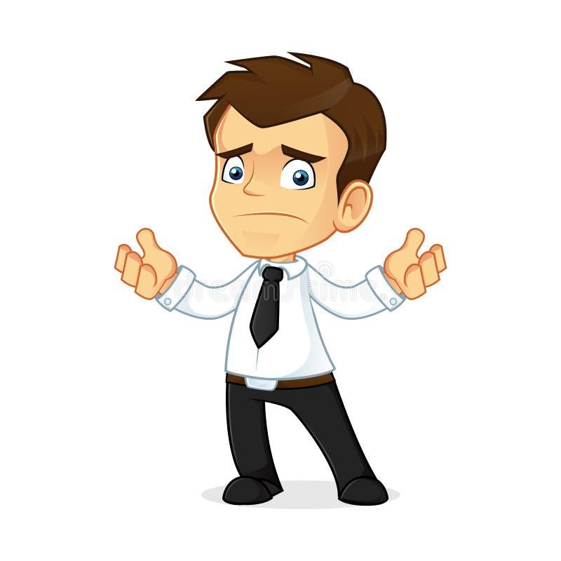 Businessman feeling sad vector illustration