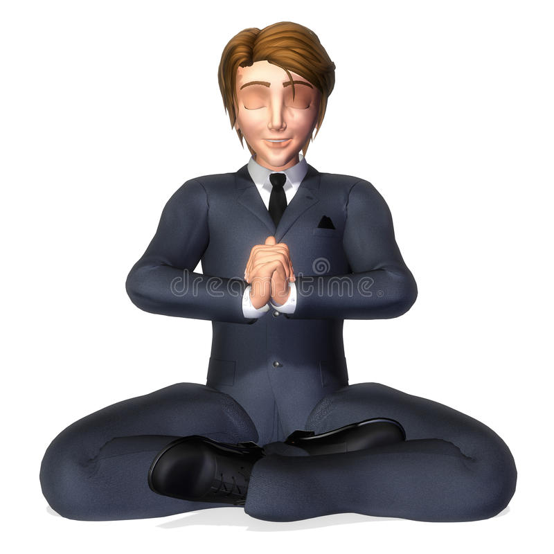Download Businessman Cartoon Meditation Pose Stock Illustration - Illustration: 17533676