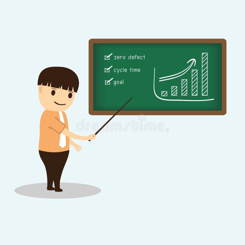 Download Businessman Cartoon During Meeting Presentation On Stock Vector - Image: 32778964