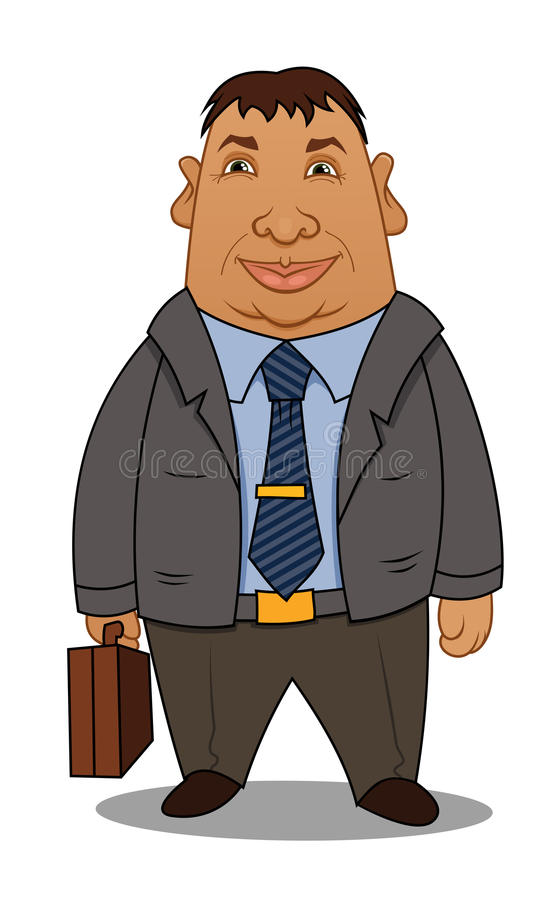 Businessman With A Case Stock Photo
