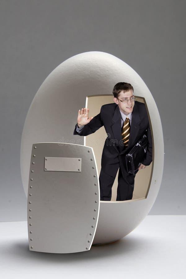 Businessman with case broken b