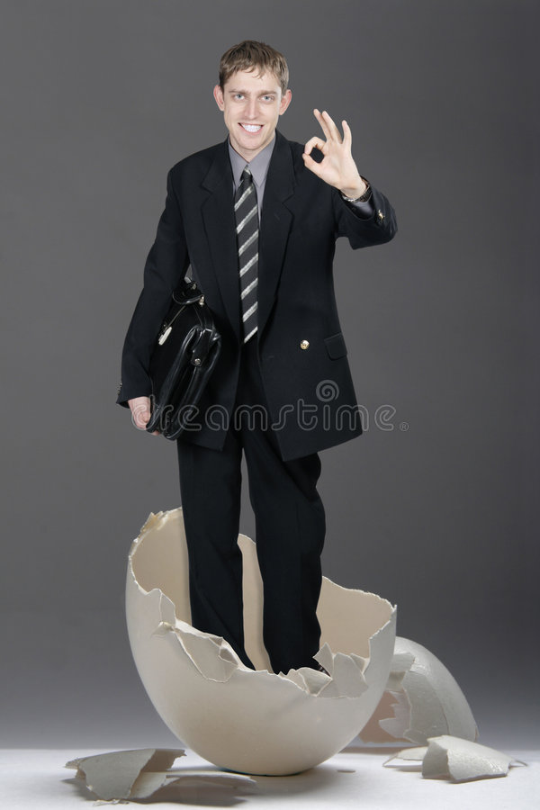 Download Businessman With Case Broken B Stock Photo - Image: 1985782