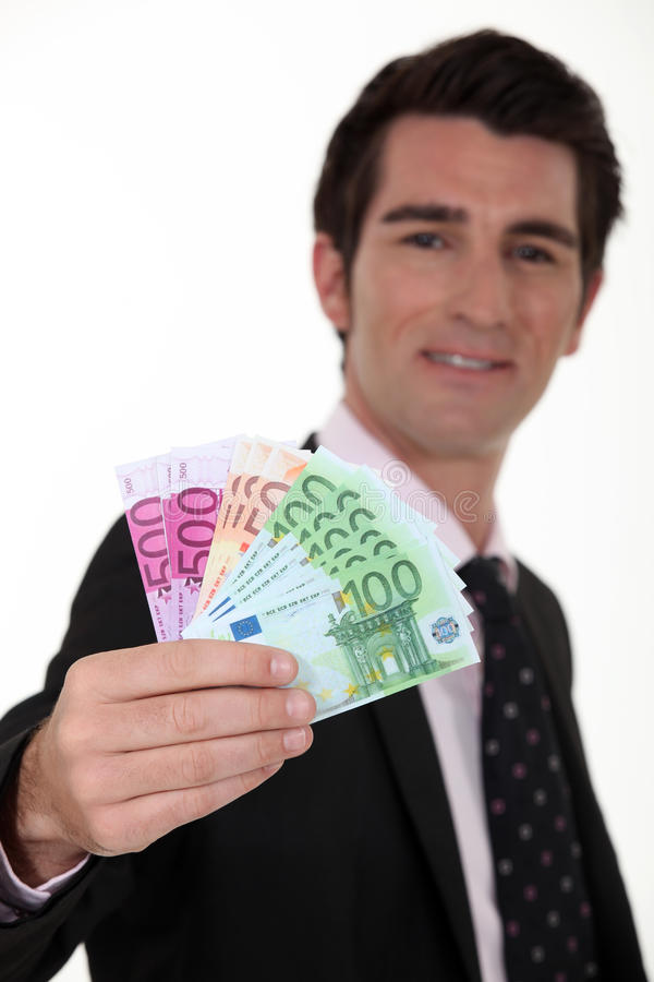 Download Businessman with cash stock image. Image of background - 31528917