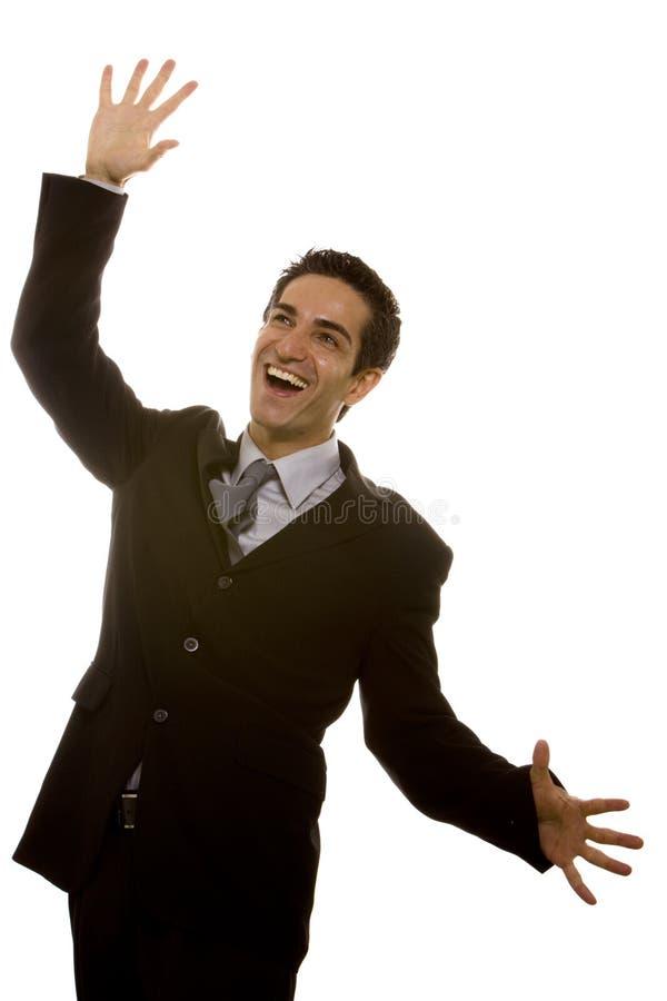 Download Businessman celebrating stock photo. Image of white, facial - 13026550
