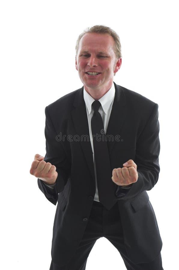 businessman celebrating στοκ φωτογραφία