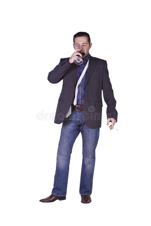 Download Businessman Celebrating With A Glass Of Drink Stock Photos - Image: 12659453