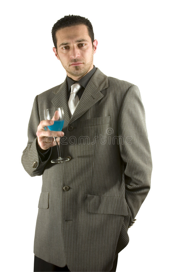 Download Businessman Celebrating With A Glass Of Drink Stock Photo - Image: 446612