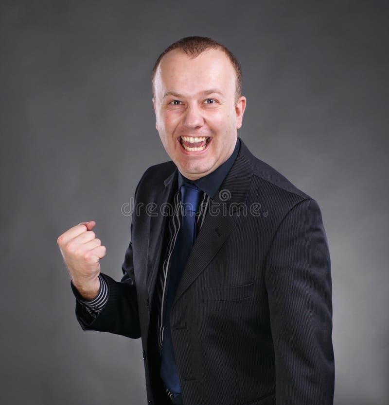Businessman Celebrating Victory Royalty Free Stock Image