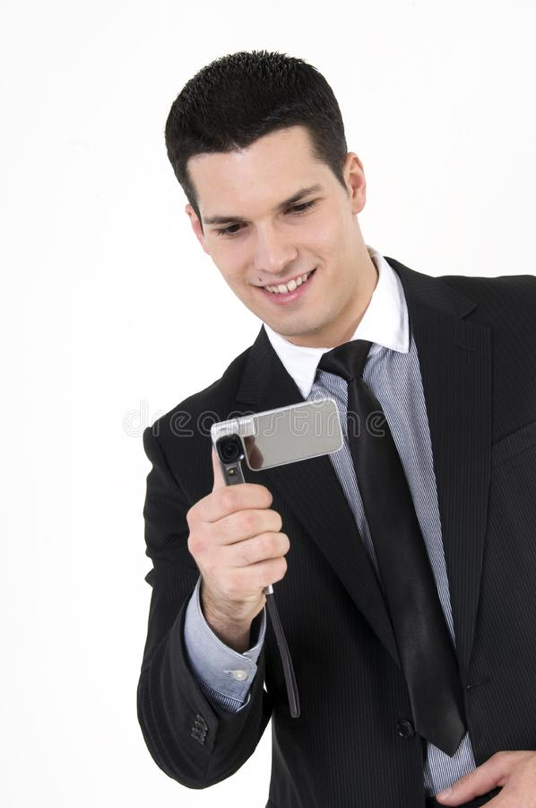 Download Businessman With Cellular Phone Stock Photo - Image: 8610102