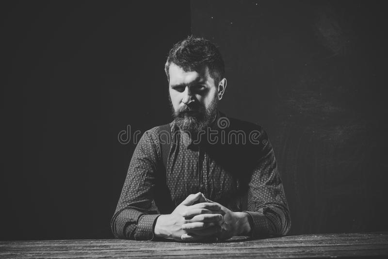 Businessman or ceo at table. stock photos