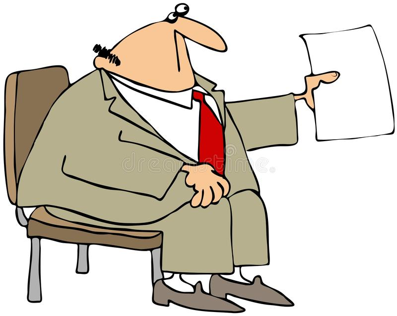 Businessman In A Chair royalty free illustration