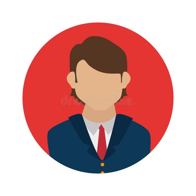 Businessman character avatar icon. Illustration design stock illustration