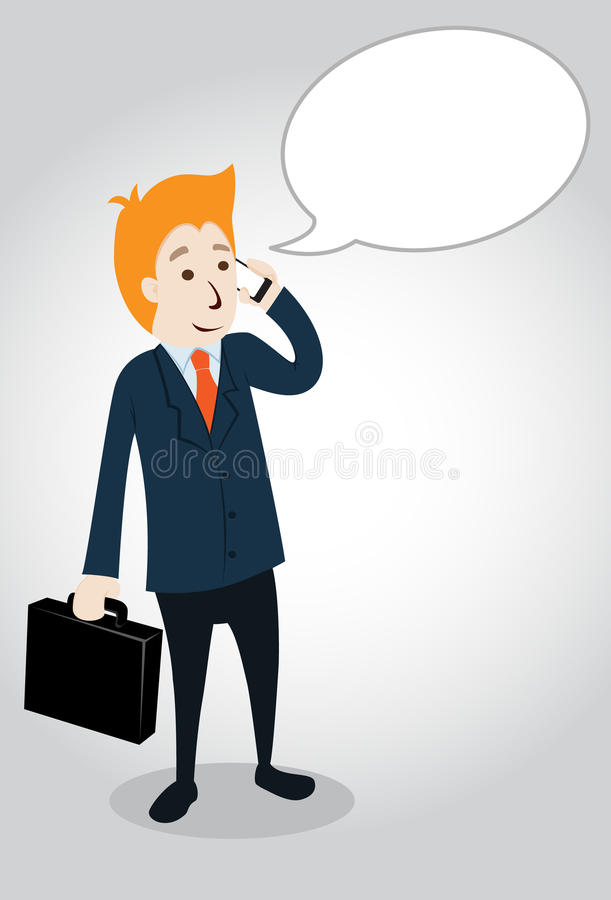 Businessman Character  Illustration Stock Photography