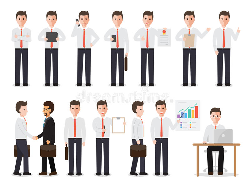 Businessman characters vector illustration