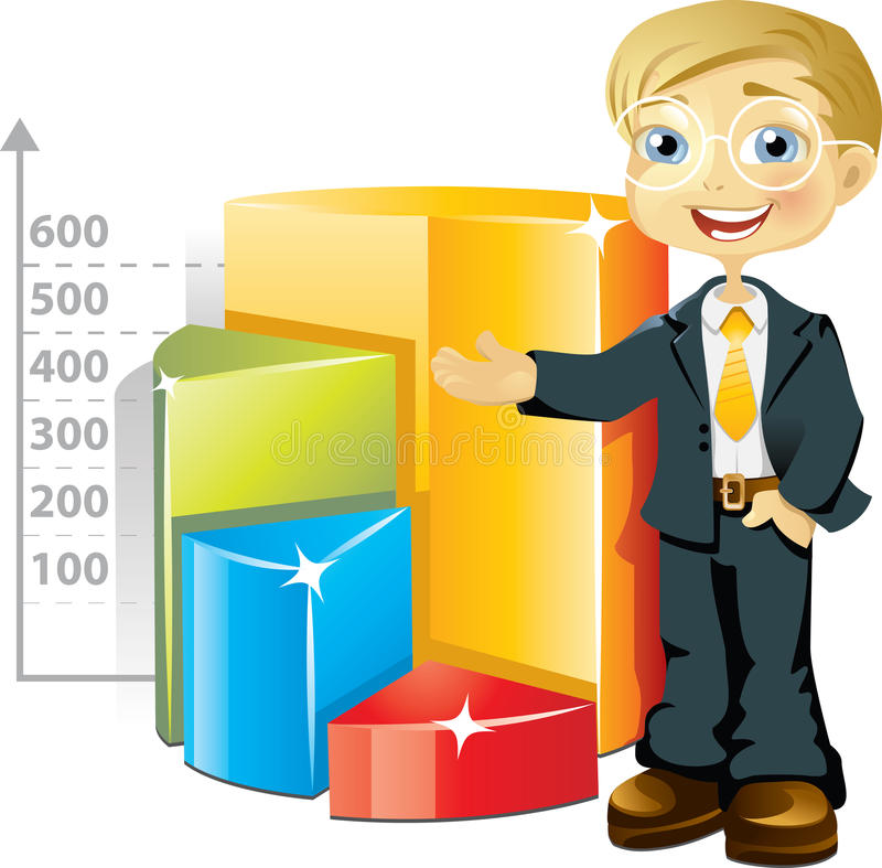 Businessman With Chart Royalty Free Stock Photo
