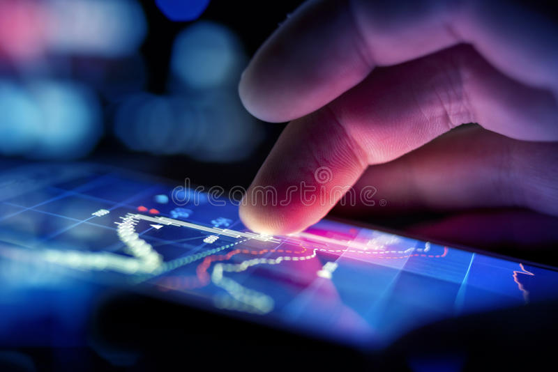 Businessman Checking Data stock images