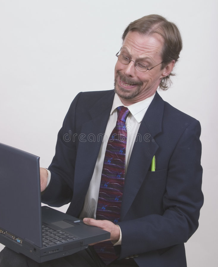 Businessman Checks The Facts royalty free stock photos