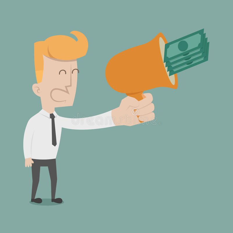Businessman cheer. Eps10 vector format royalty free illustration