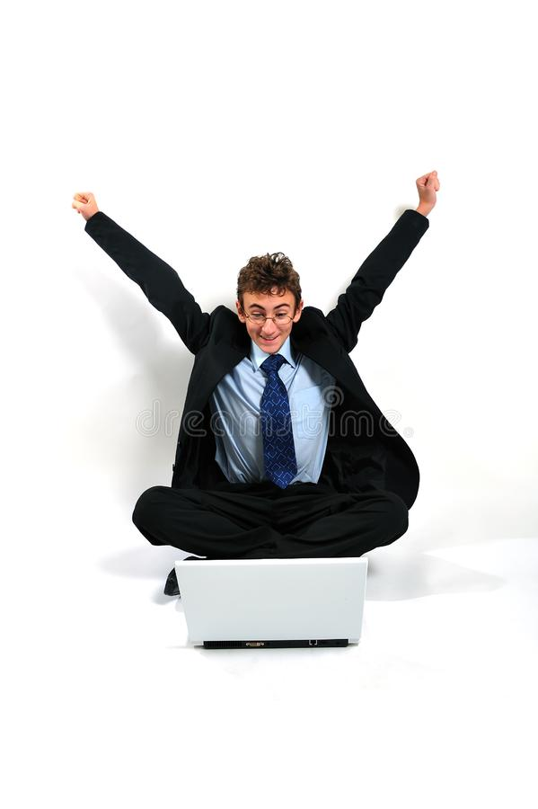 Download Businessman cheering stock image. Image of businessman - 8642293