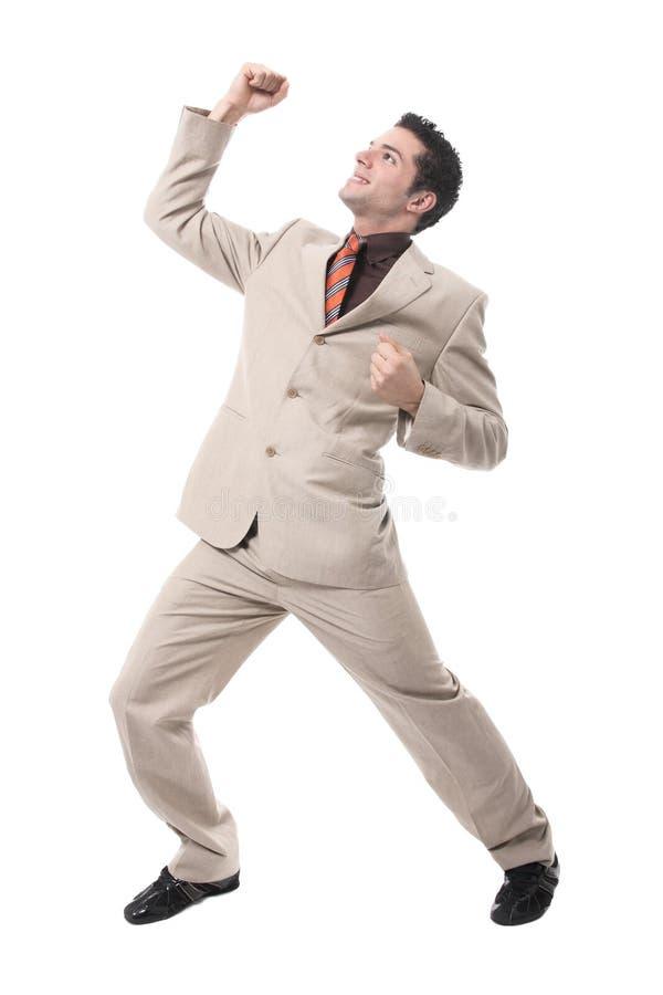 businessman cheering successful young στοκ φωτογραφίες