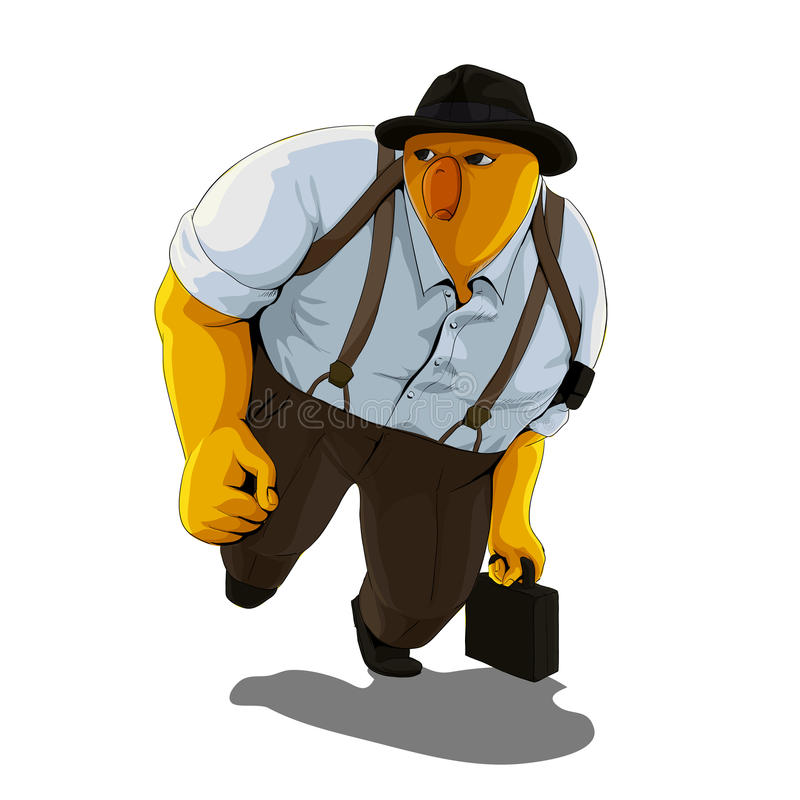 Businessman chick stock illustration