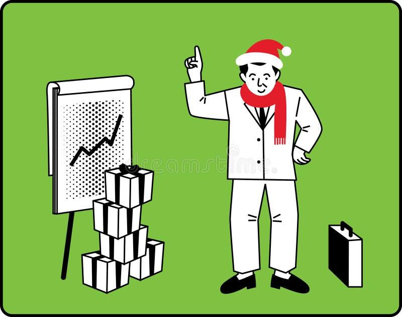 Download Businessman Christmas Presentation Stock Vector - Image: 11616248