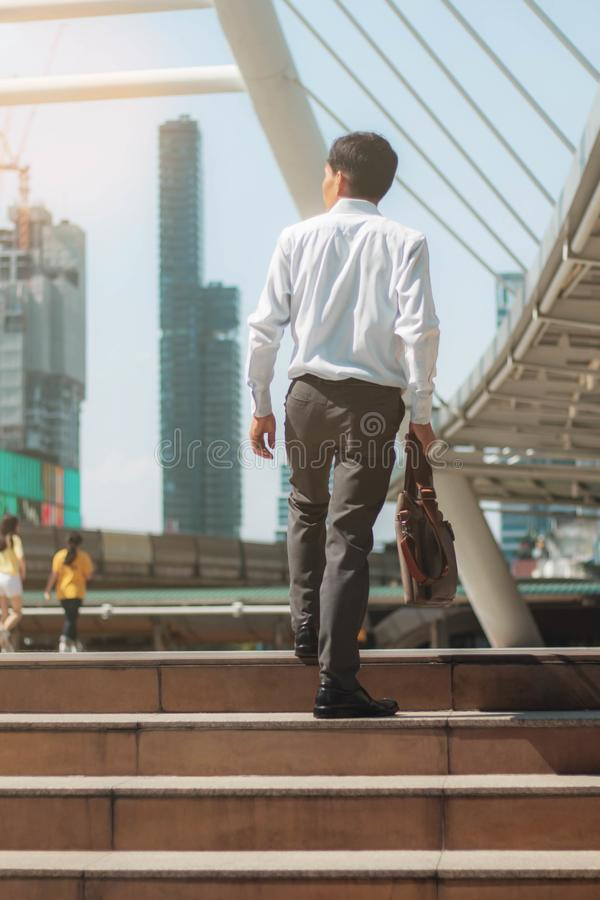 Businessman in city. royalty free stock photos