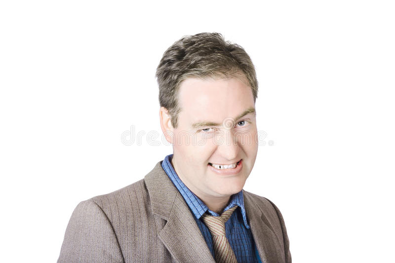 Businessman Clenching His Teeth Stock Photography