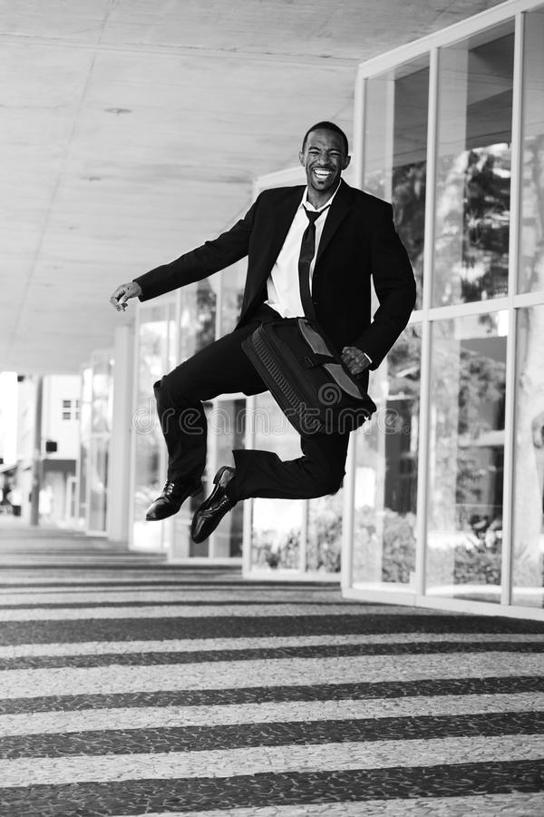 Free Businessman Clicking His Heels Stock Photography - 21105732