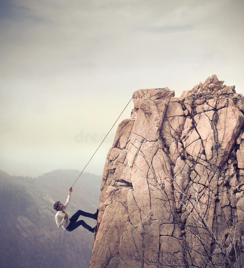 Download Businessman Climbing stock photo. Image of caucasian - 26735922