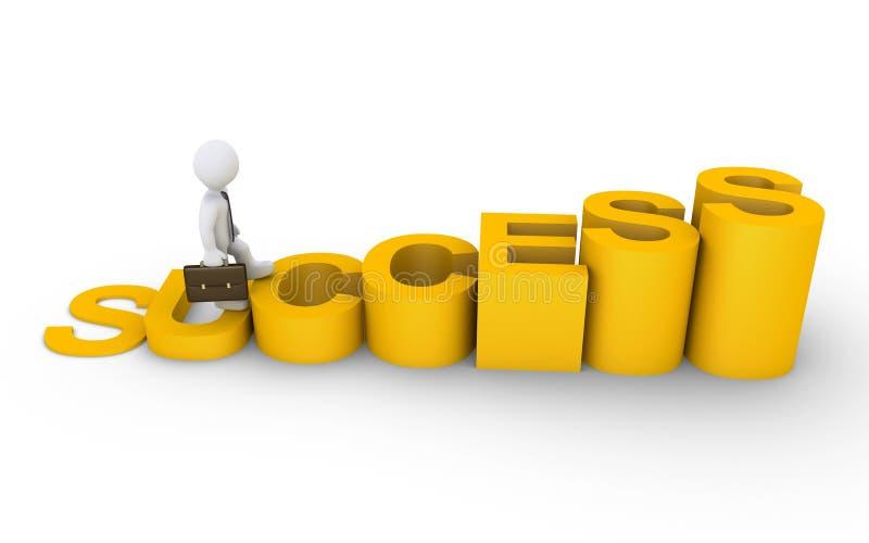 Download Businessman Is Climbing A Success Diagram Stock Illustration - Illustration: 32669572