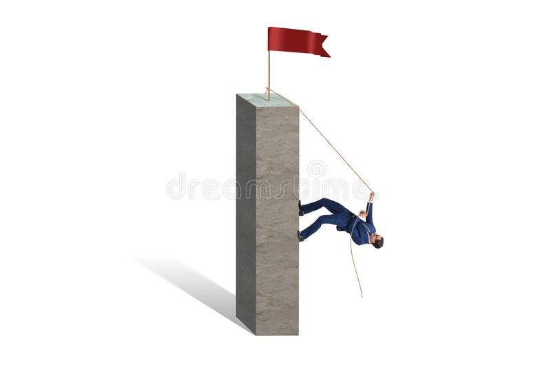 The businessman climbing to the top success royalty free stock photos