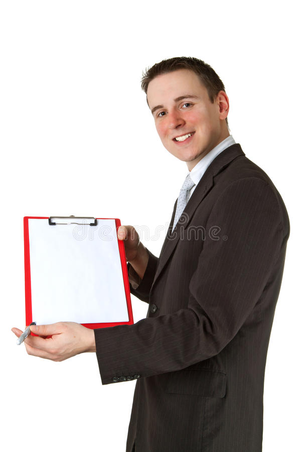 Download Businessman with clipboard stock image. Image of businessman - 21960585
