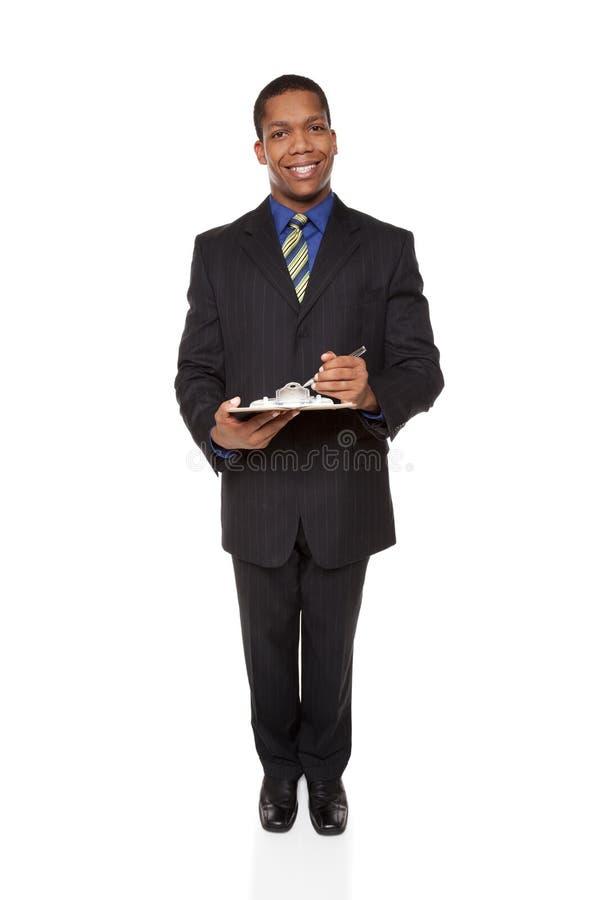 Businessman - Clipboard Questionnaire Stock Photos