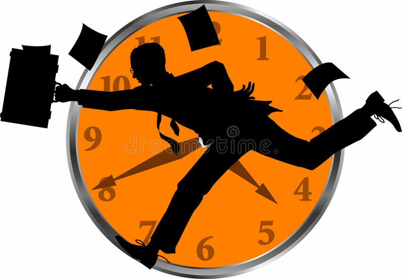 Businessman_clock royalty free illustration