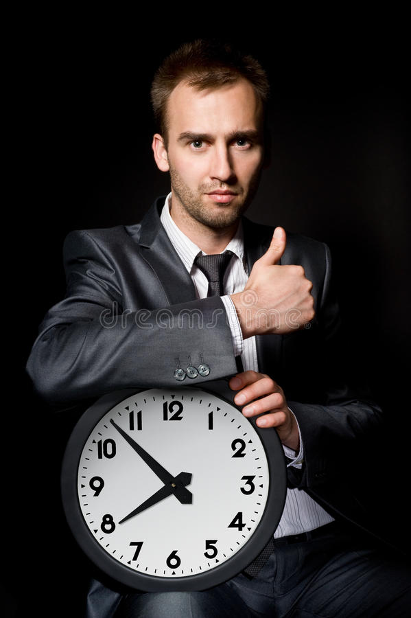 Download Businessman with clock stock photo. Image of face, director - 14520998