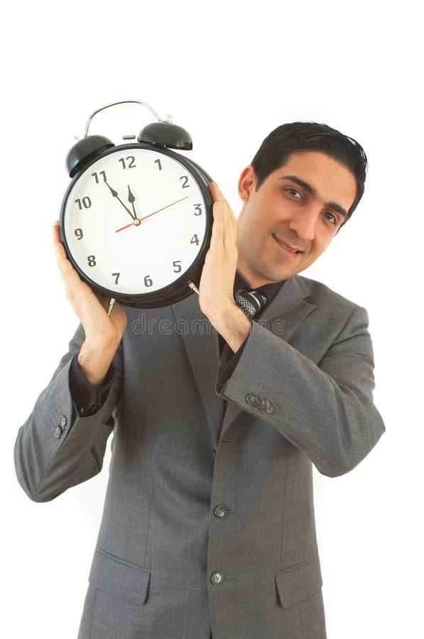 Businessman with clock royalty free stock photos